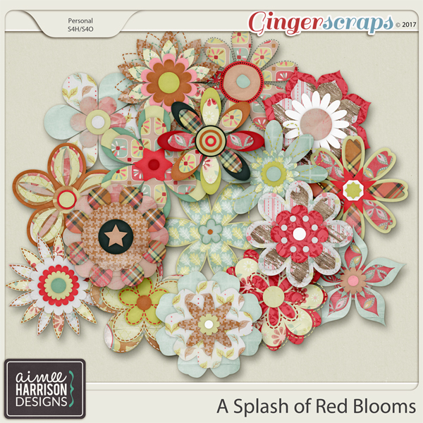 A Splash of Red Blooms by Aimee Harrison