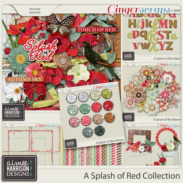 A Splash of Red Collection by Aimee Harrison