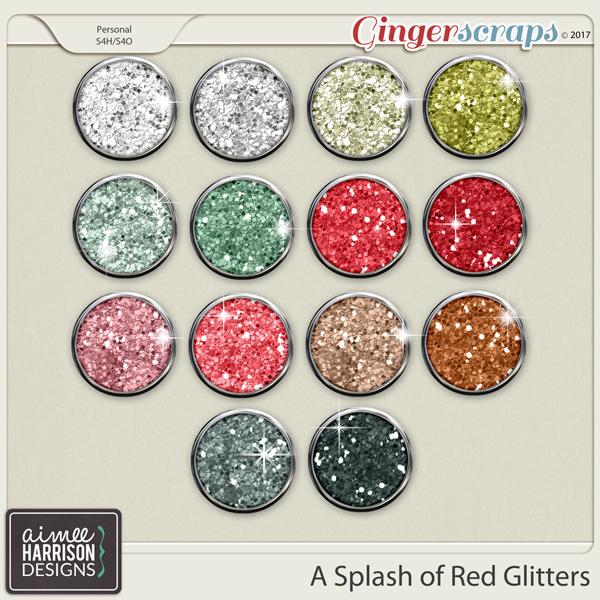 A Splash of Red Glitters by Aimee Harrison