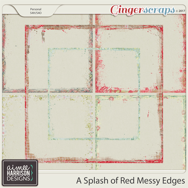 A Splash of Red Messy Edges by Aimee Harrison