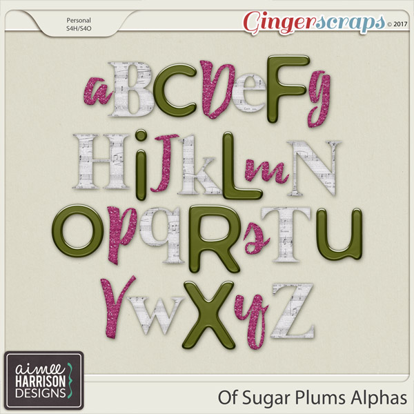 Of Sugar Plums Alpha Sets by Aimee Harrison