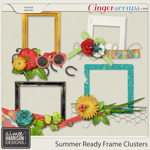 Summer Ready Frame Clusters by Aimee Harrison