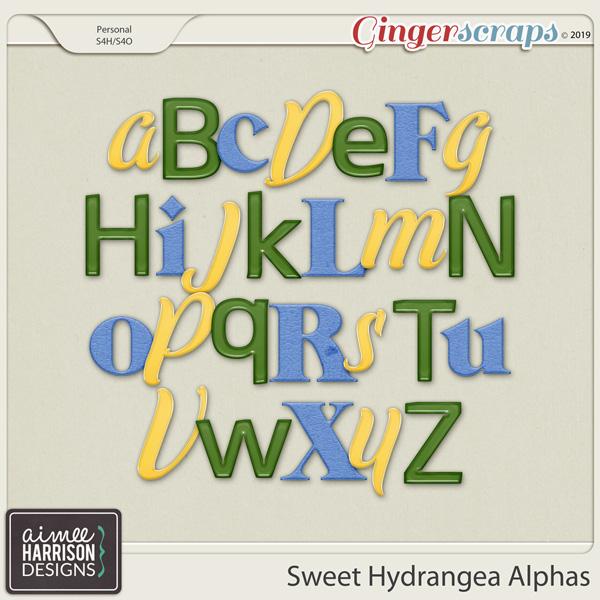 Sweet Hydrangea Alpha Sets by Aimee Harrison