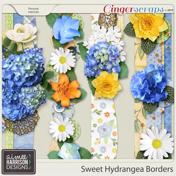 Sweet Hydrangea Borders by Aimee Harrison