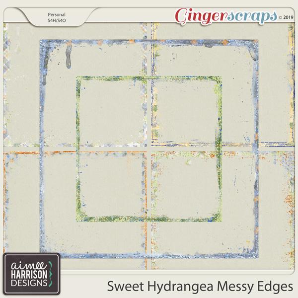 Sweet Hydrangea Messy Edges by Aimee Harrison