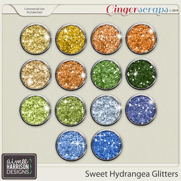 Sweet Hydrangea Glitters by Aimee Harrison