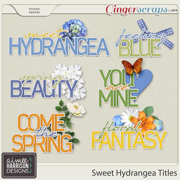 Sweet Hydrangea Titles by Aimee Harrison