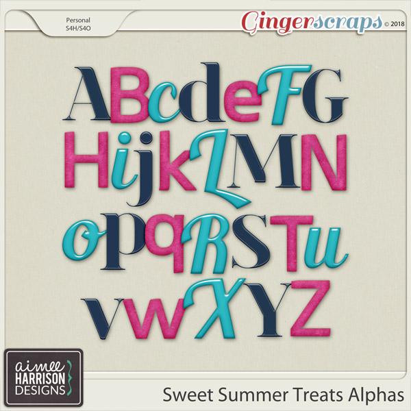 Sweet Summer Treats Alpha Sets by Aimee Harrison