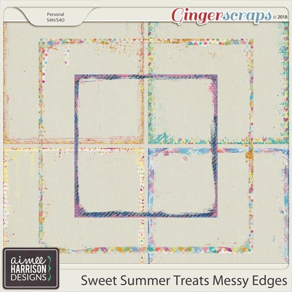 Sweet Summer Treats Messy Edges by Aimee Harrison