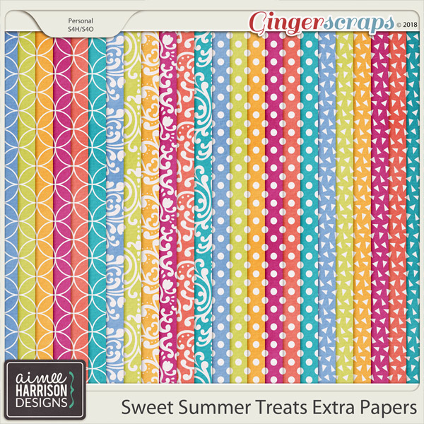 Sweet Summer Treats Extra Papers by Aimee Harrison