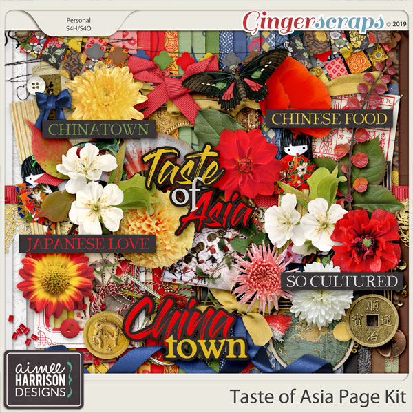 Taste of Asia Page Kit by Aimee Harrison