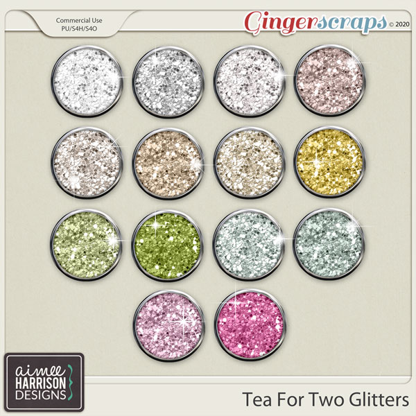 Tea for Two Glitters by Aimee Harrison