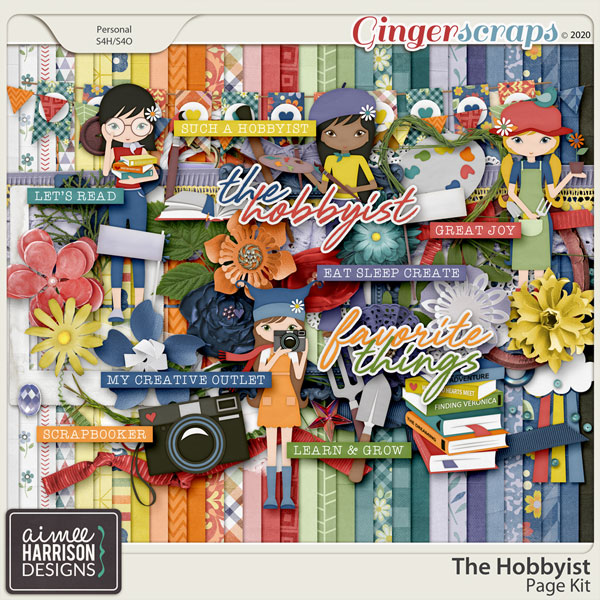 The Hobbyist Page Kit by Aimee Harrison
