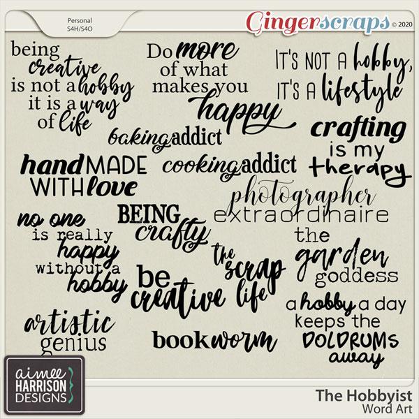 The Hobbyist Word Art by Aimee Harrison