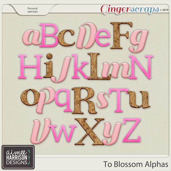 To Blossom Alpha Sets by Aimee Harrison