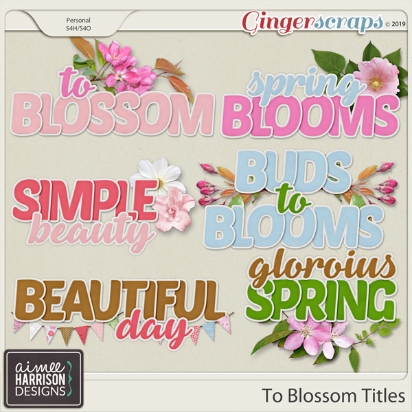 To Blossom Titles by Aimee Harrison