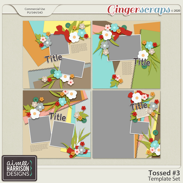 Tossed #3 Templates by Aimee Harrison