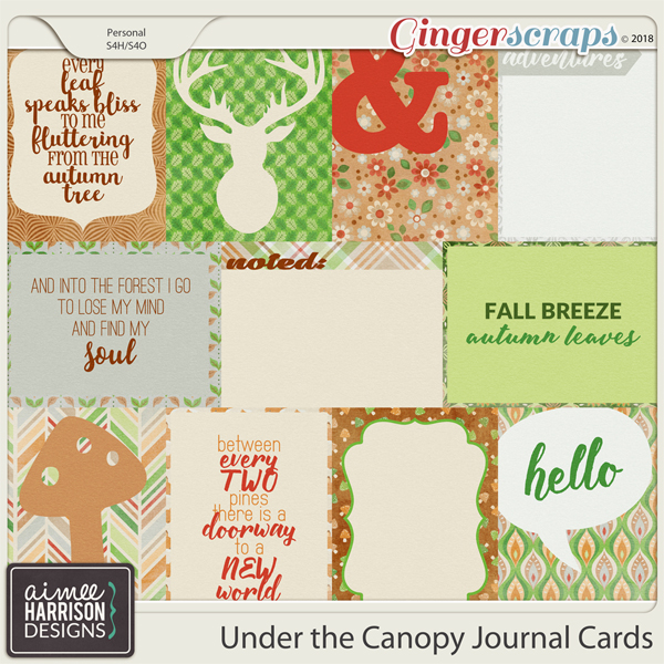 Under the Canopy Journal Cards by Aimee Harrison