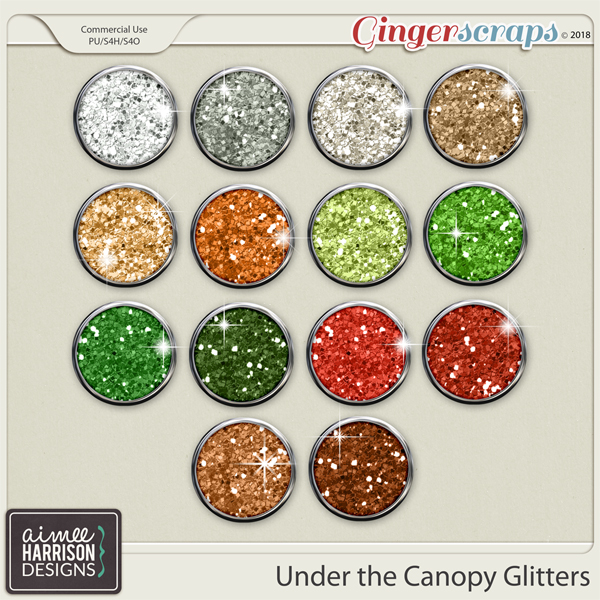 Under the Canopy Glitters by Aimee Harrison
