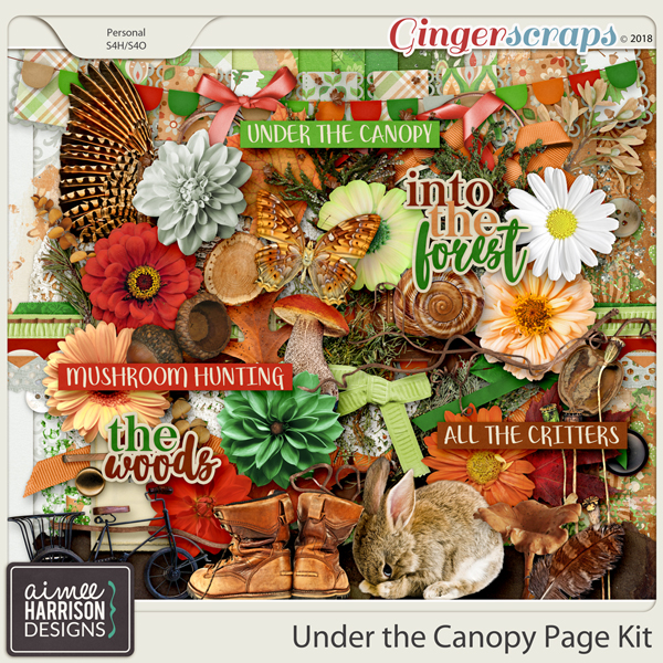 Under the Canopy Page Kit by Aimee Harrison