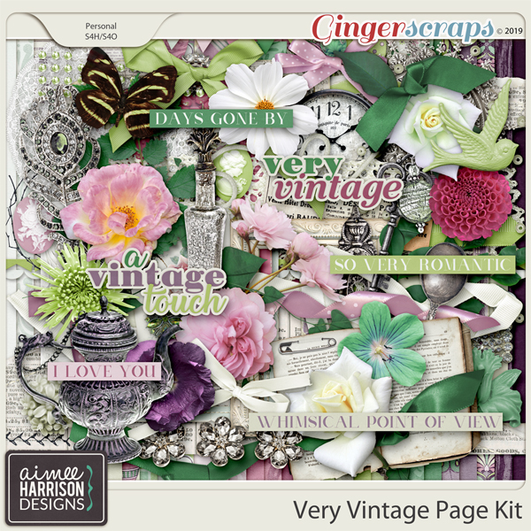 Very Vintage Page Kit by Aimee Harrison