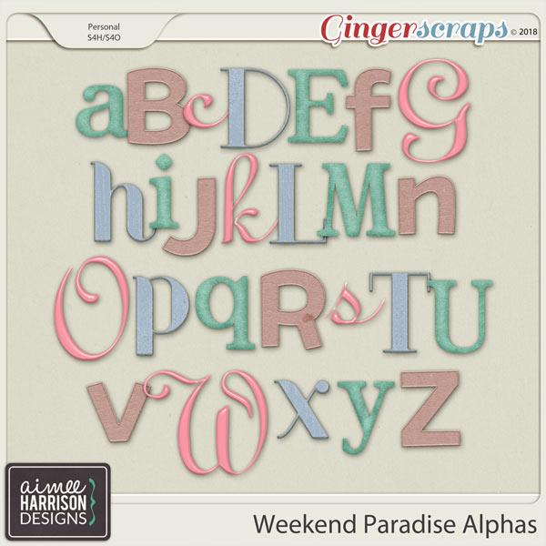 Weekend Paradise Alpha Sets by Aimee Harrison