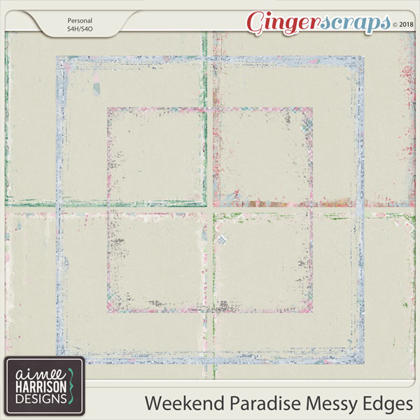 Weekend Paradise Messy Edges by Aimee Harrison