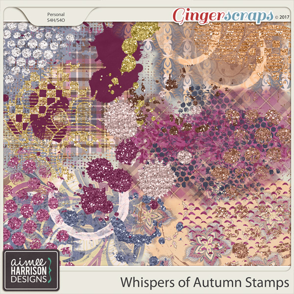 Whispers of Autumn Stamps by Aimee Harrison