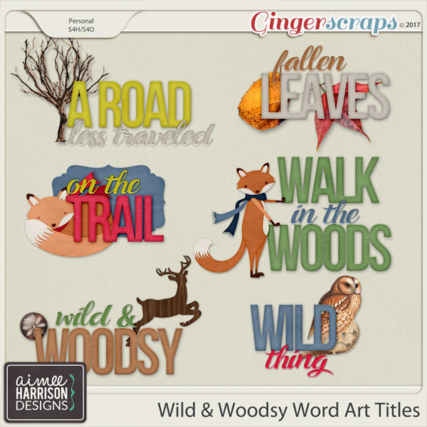 Wild and Woodsy Word Art by Aimee Harrison