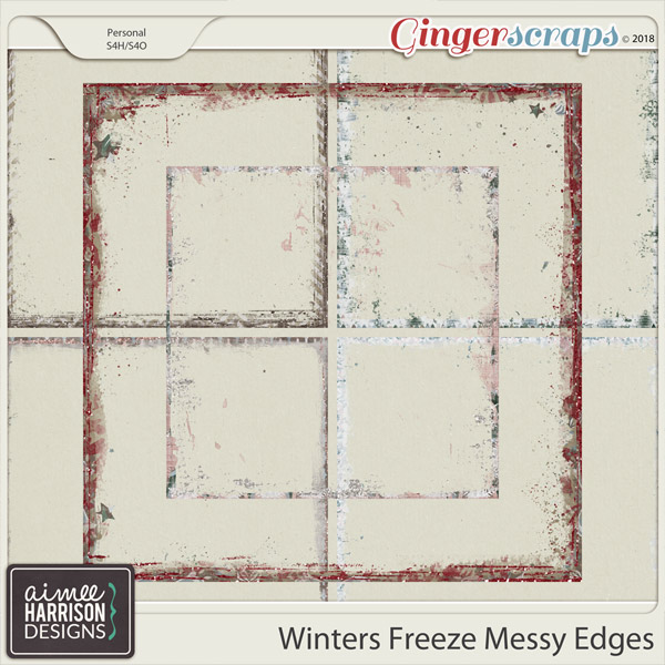 Winters Freeze Messy Edges by Aimee Harrison