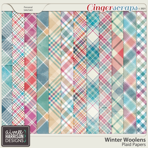 Winter Woolens Plaid Papers by Aimee Harrison