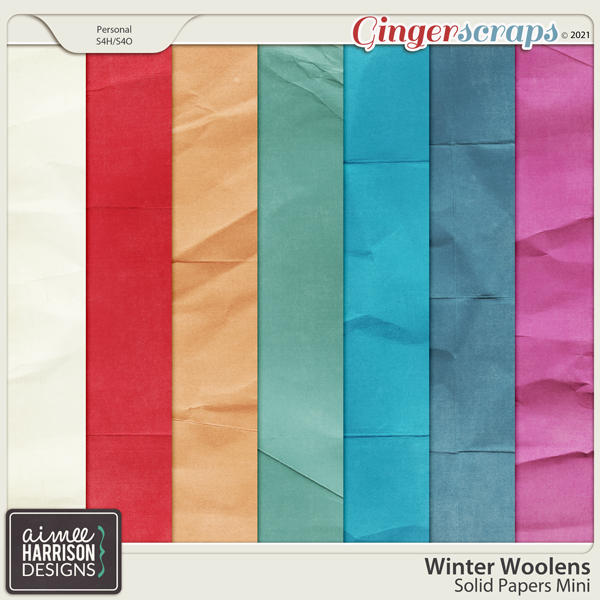 Winter Woolens Solid Papers Mini by Aimee Harrison