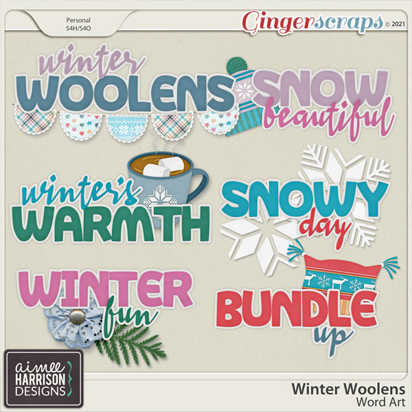 Winter Woolens Titles by Aimee Harrison