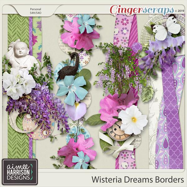 Wisteria Dreams Borders by Aimee Harrison
