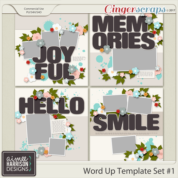 Word Up #1 Templates by Aimee Harrison