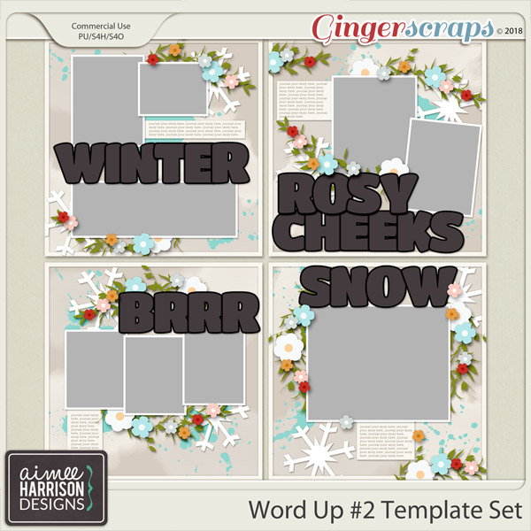 Word Up #2 Templates by Aimee Harrison