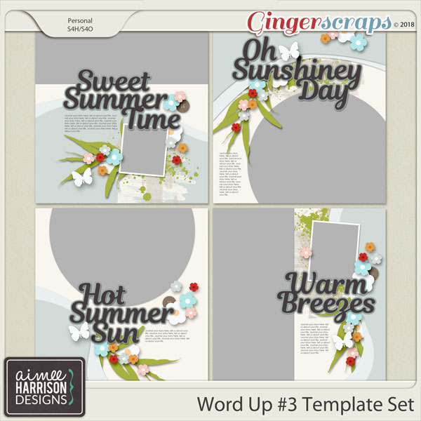 Word Up #3 Templates by Aimee Harrison