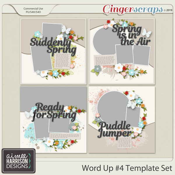 Word Up #4 Templates by Aimee Harrison