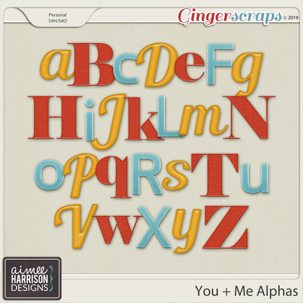 You and Me Alpha Sets by Aimee Harrison