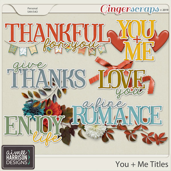 You and Me Titles by Aimee Harrison