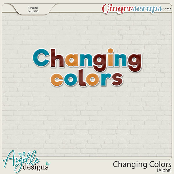 Changing Colors  Alpha by Angelle Designs
