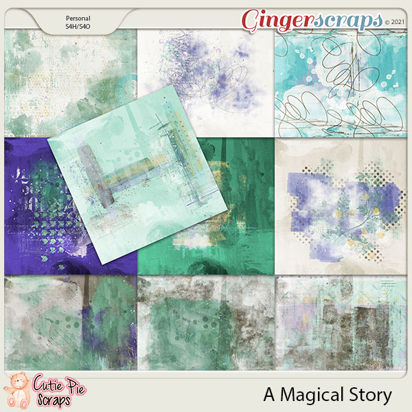 A Magical Story Painted Papers