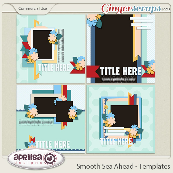Smooth Sea Ahead - Templates  by Aprilisa Designs