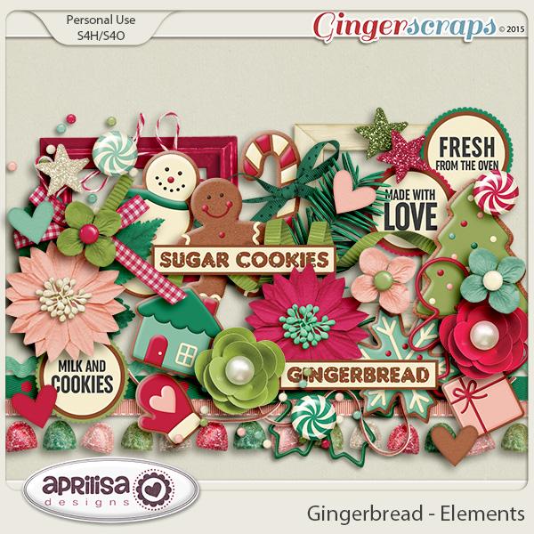 Gingerbread - Elements by Aprilisa Designs