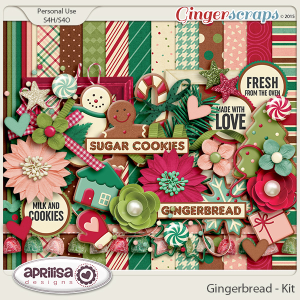 Gingerbread - Kit by Aprilisa Designs