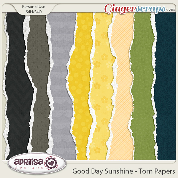 Good Day Sunshine - Torn Papers by Aprilisa Designs