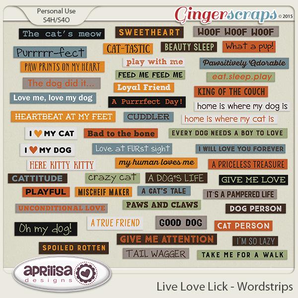 Live Love Lick - Wordstrips