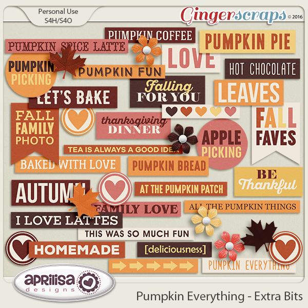 Pumpkin Everything - Extra Bits by Aprilisa Designs