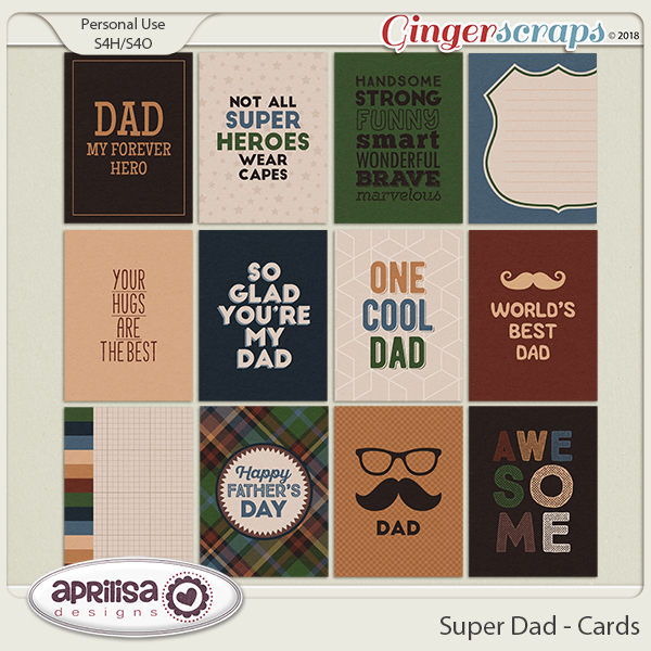 Super Dad - Cards by Aprilisa Designs