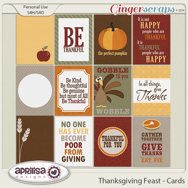Thanksgiving Feast - Cards by Aprilisa Designs